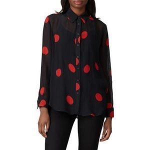 Mara Hoffman Margot Top red polka dot blouse J15